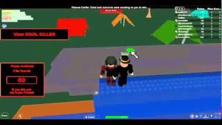 Roblox- trying to run from kool killer 4
