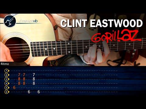 Como tocar Clint Eastwood GORILLAZ en Guitarra Acustica | SUPER FACIL Principiantes