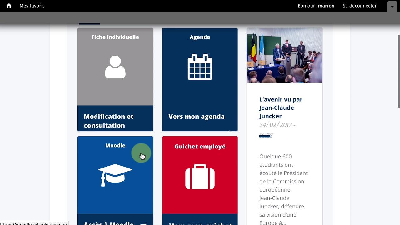 Mon Bureau Virtuel Et Mon Horaire En Video Uclouvain