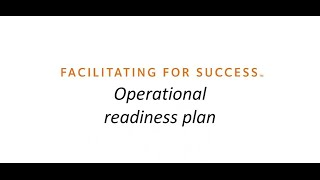 Operational Readiness (OR) planning