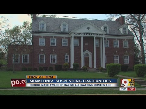 Miami University suspends 2 fraternities for hazing, alcohol violations