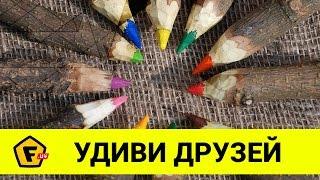 КАК СДЕЛАТЬ ОГРОМНЫЕ КАРАНДАШИ для неандертальцев своими руками в домашних условиях