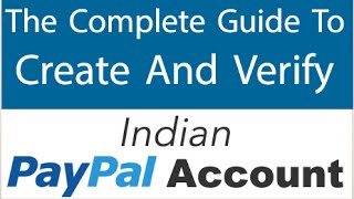 How To Create & Verify Indian PAYPAL Account (2017)(If this Video Helped You Then Please LIKE & Subscribe. PayPal SignUp- https://www.paypal.com How To Earn FREE REAL MONEY With PROOF- ..., 2015-03-28T10:09:00.000Z)