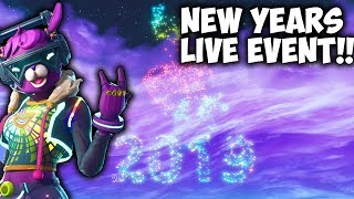 New Years Live Event In Fortnite Battle Royale.. (DJ BOP Skin Gameplay)