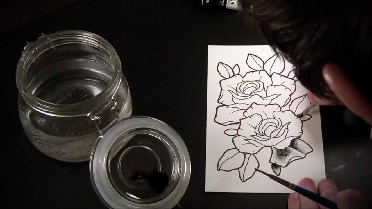 Spit shading lesson tutorial speed drawing of tattoo for How to shade tattoos