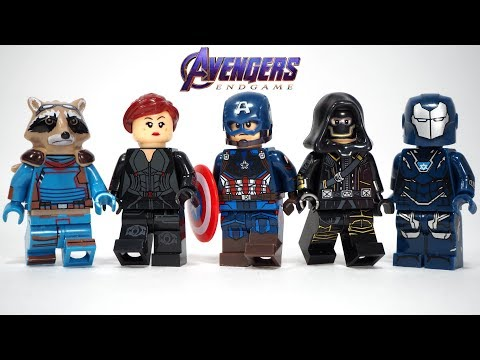 Avengers Endgame Captain America Black Widow Hawkeye Pepper Potts Unofficial Lego Minifigures