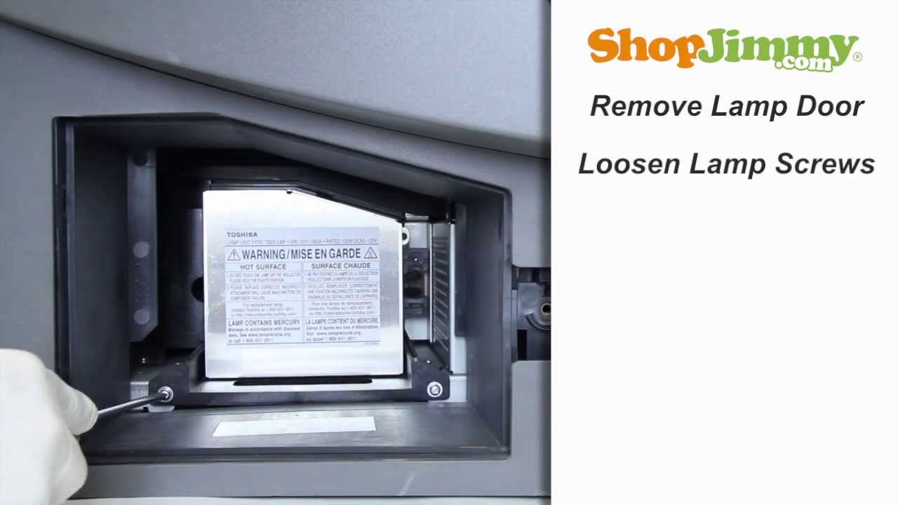 Toshiba TB25 LMP Lamp Replacement Guide For DLP TV   YouTube