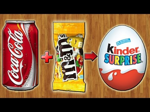 Киндер Сюрприз из Coca-Cola и M&M's