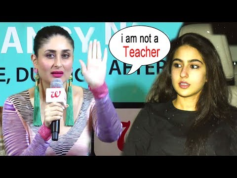 Kareena Kapoor's Reaction On Giving Tips To Saif's Daughter Sara Ali Khan's Bollywood Debut