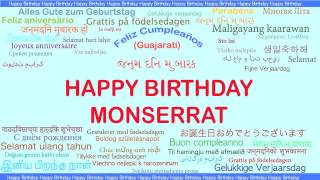 Monserrat   Languages Idiomas - Happy Birthday