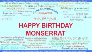 Monserrat   Languages Idiomas - Happy Birthday