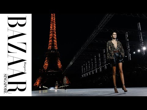 Kaia Gerber, Anja Rubik & More Walk The Saint Laurent Spring/Summer 2018 Show