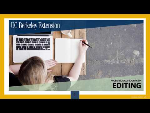Professional Sequence in Editing | UC Berkeley Extension