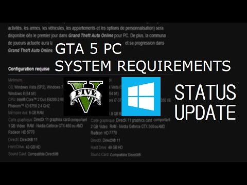 GTA V PC System Requirements - Status Update!