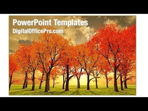 Beautiful Autumn PowerPoint Template Backgrounds - DigitalOfficePro - autumn powerpoint templates