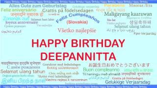 Deepannitta   Languages Idiomas - Happy Birthday