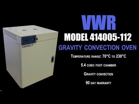 VWR OVEN GRAVITY CONVECTION OVEN (3691G)