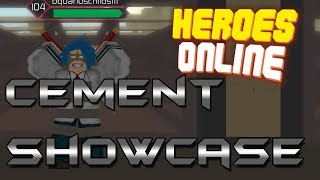 [NEW CODE] CEMENT QUIRK SHOWCASE | Heroes Online | Roblox