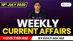 Weekly Current Affairs 2020 | Current Affairs MCQ by Krati Ma'am | Current Affairs 2020