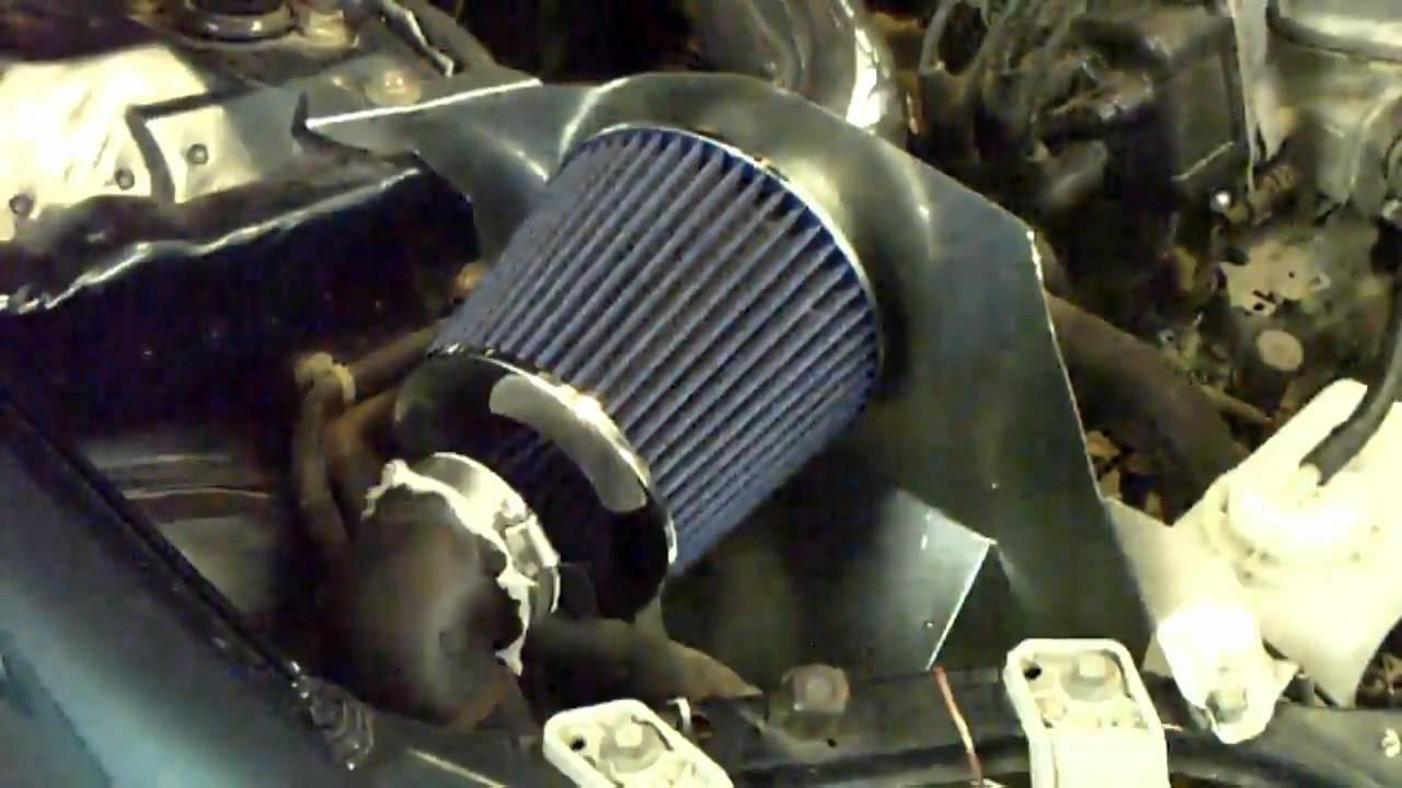 97 Honda Civic Ram Air Intake Install  YouTube
