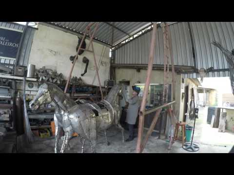 Stailess Steel - WorksZe Vasconcellos Metal Sculptures - Metal Sculptures - Campinas - São Paulo - Brasil Sculptures, meta sculptures, esculturas em metal, arte, art, escultou, obras de arte, cavalos , esculturas de cavalos