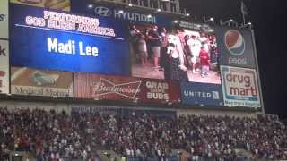 Madi sings God Bless America at a Cleveland Indians game!