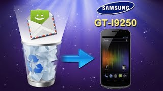 How to Recover Deleted SMS Text Messages on Samsung Galaxy Nexus (GT I9250)?