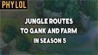 Most efficient jungle routes for ganking and farming - Season 5