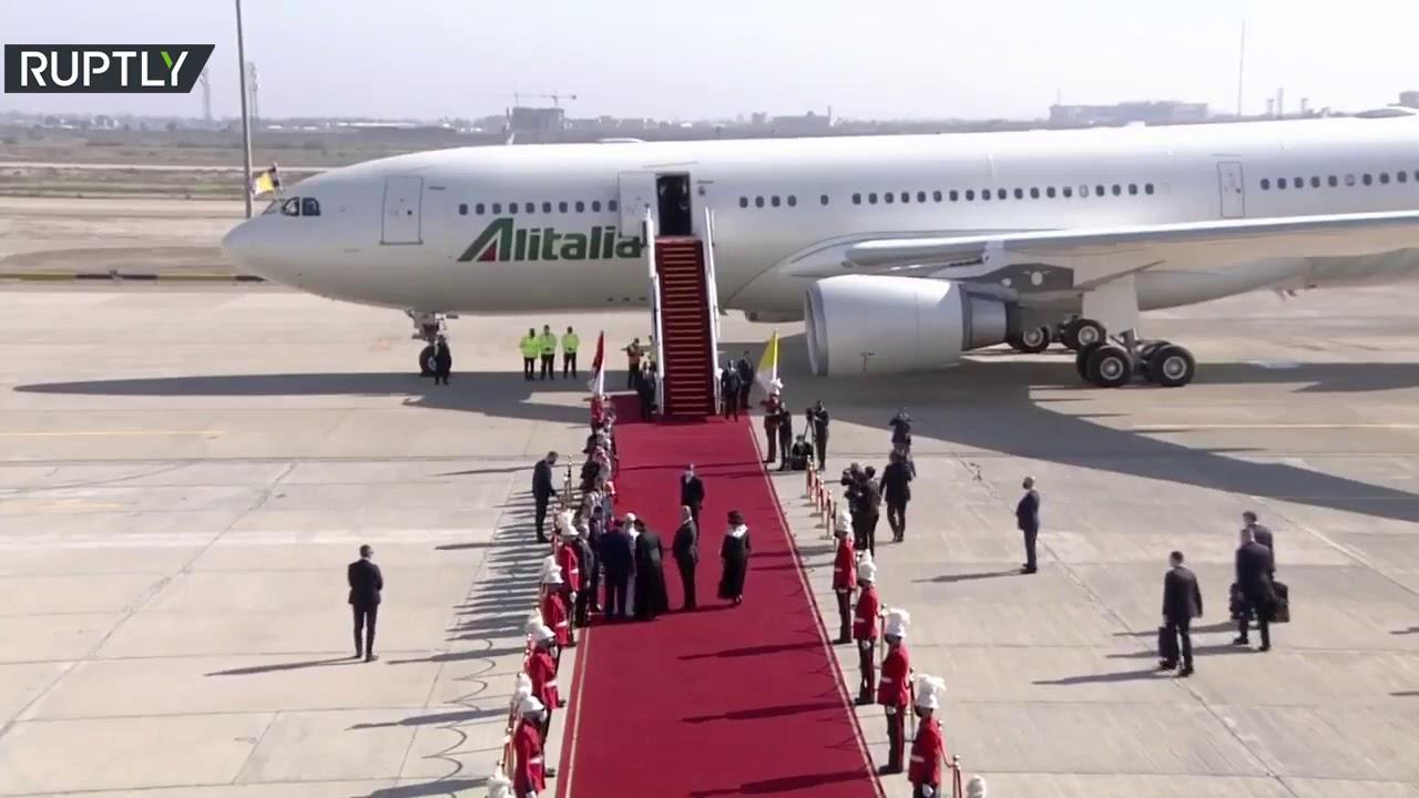 البابا فرنسيس يغادر بغداد بعد زيارة تاريخية للعراق استمرت 3 أيام  - نشر قبل 2 ساعة