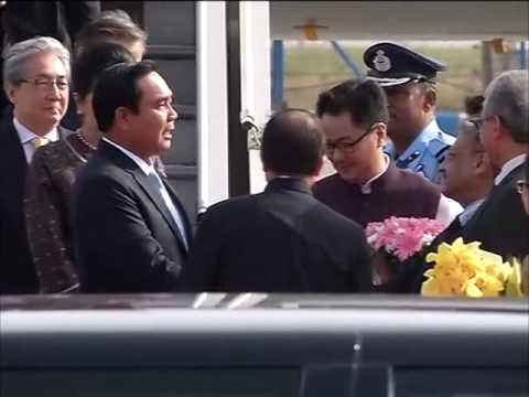 Thailand PM arrives in India for three-day visit
