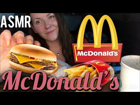 MCDONALD'S Double Cheeseburger & Fries 🍔🍟 Rocky's Evicted? ~ ASMR Mukbang Relaxing Eating Sounds