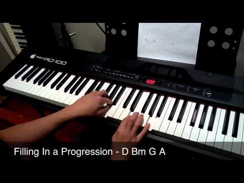 Live Piano Lesson - Runs And Fills In D - Piano Lesson Online