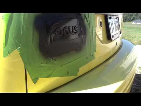 Plasti Dip Ford Focus Emblem Youtube