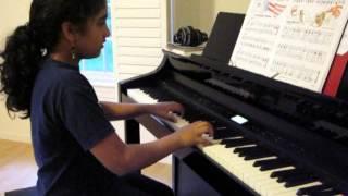 Natania Lyson plays the Marine Corps Hymn