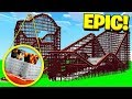 MINECRAFT EXPLORING THE WORLD'S LARGEST ABANDONED AMUSEMENT PARK!