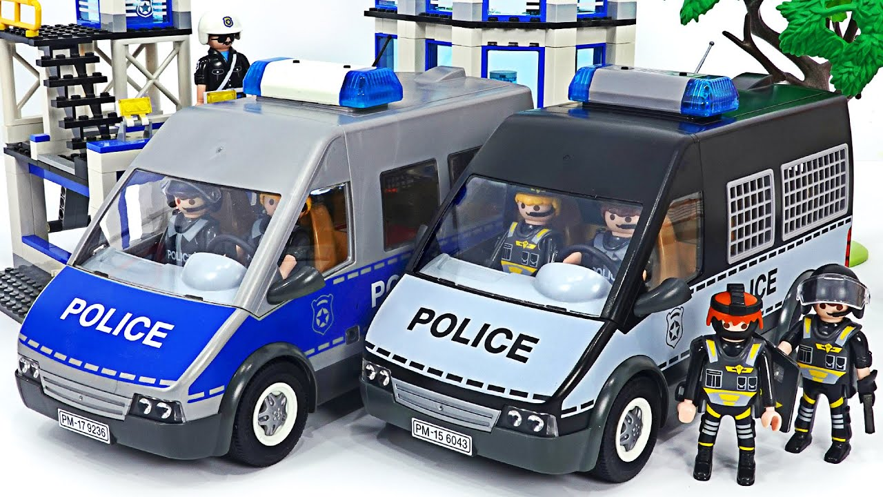 Protect the citizens! Playmobil Police Commando to defeat the villains! Go! | DuDuPopTOY