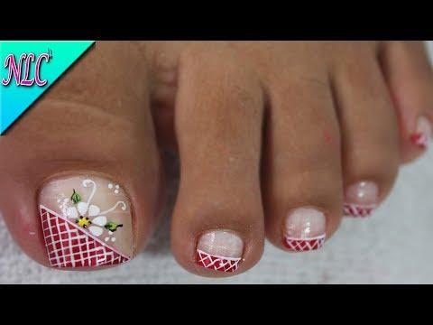 Decoracion De Unas Elegantes Para Los Pies Flowers Nail Art