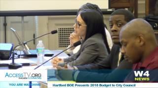 w4 news hartford boe makes budget presentation to the city council 5 9 2017