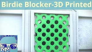 How to Keep Birds Out of Your Dryer Vent  - The 3d Printer Birdie Blocker