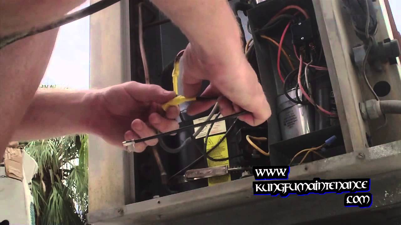 How To Replace Broken Melted Or Burned Air Conditioner Compressor Goodman Heat Kit Wiring Diagram Wire Leads