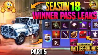 PUBG MOBILE LITE SEASON 18 WINNER PASS OFFICIAL LEAKS 🔥 | PART 5
