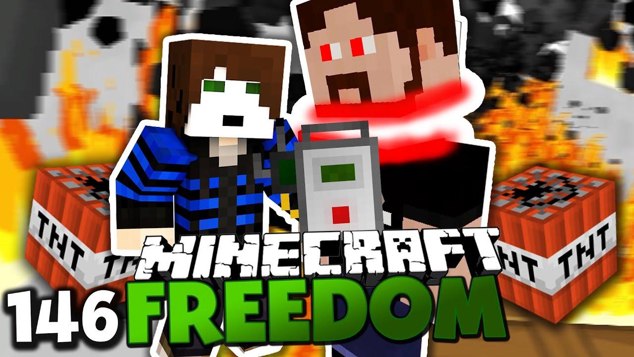 GLP WILL GRONKH WEGSPRENGEN Minecraft FREEDOM Paluten - Minecraft hauser gronkh
