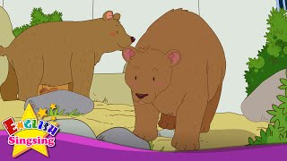 [Counting] How many bears? Three bears. (In the zoo) - Easy Dialogue - English video for Kids.