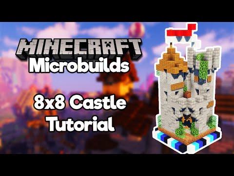 Minecraft Microbuilds: 8x8 Castle! [Build Tutorial] thumbnail
