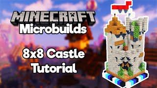 Minecraft Microbuilds: 8x8 Castle! [Build Tutorial]