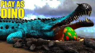 OMG I ATE MY BABY! Play As Dino Sarco Update! - Ark Survival Evolved