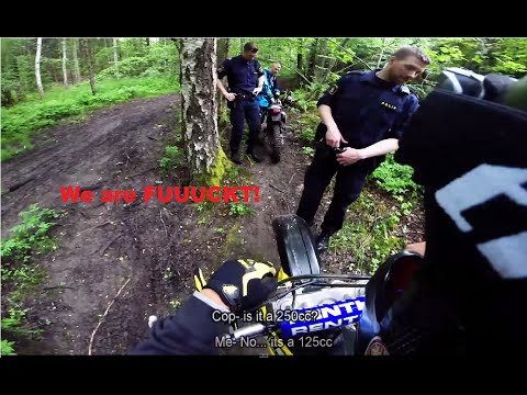 6 Police Officers Vs 2 Dirbikers? [ENDURO Day!]