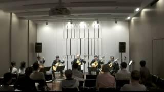 夙川ギターアンサンブルが2016年6月28日に大阪のヤマハで行ったコンサー...