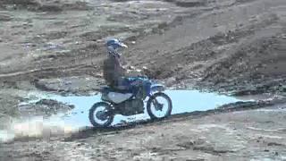 full mod kawasaki klx 110 klx143 pitbike riding on my private motocross track