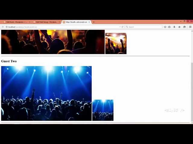 wordpress event management - ACF pro repeater, multiple guest fields for event